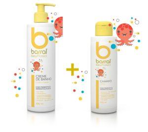 Barral Babyprotect Creme Banho 500ml Champô 200ml
