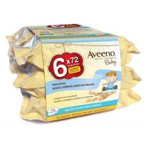 Aveeno Baby Toalhitas Limpeza 6x72unid