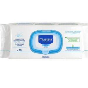 Mustela Bebé Muda Fralda Toalhetes de Limpeza Calmantes Perfumados 70 toalhetes
